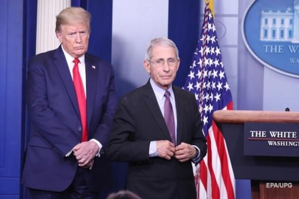 Трамп назвал «катастрофой» главного инфекциониста США