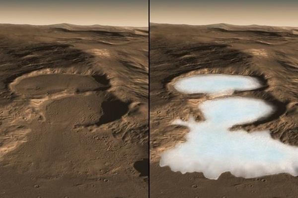 На Марсе обнаружили значительные ресурсы льда
