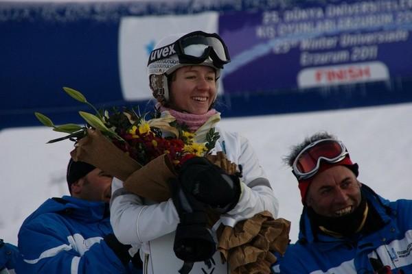 Украинская спортсменка Данча получила две медали на Кубке Европы по сноубордингу