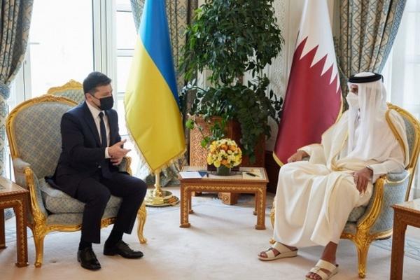 Зеленский встретился с эмиром Катара — о чем говорили