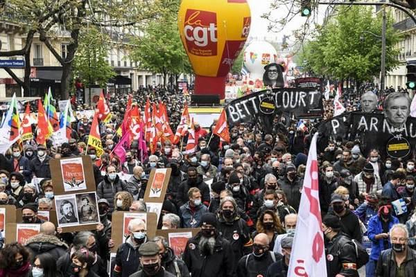 Во Франции проходят первомайские демонстрации, есть первые задержания