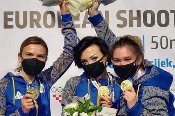 Украина завоевала «золото» в командной стрельбе на чемпионате Европы