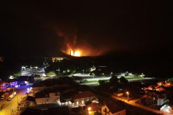 На складах боеприпасов в Сербии произошли взрывы