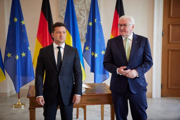 Зеленский обсудил с президентом Германии Донбасс, членство в ЕС и НАТО и вакцинацию